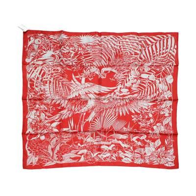 Flamingo party silk Scarf-0