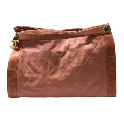 Salmon large leather tote Bag-0
