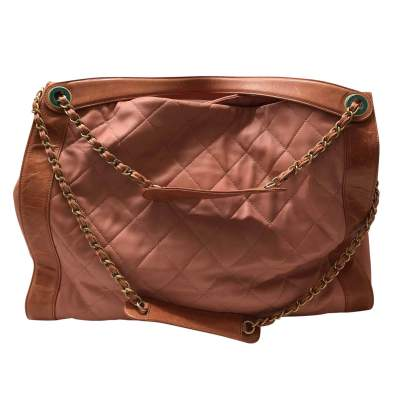 Salmon large leather tote Bag-3