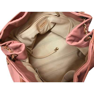 Salmon large leather tote Bag-9