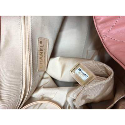 Salmon large leather tote Bag-11