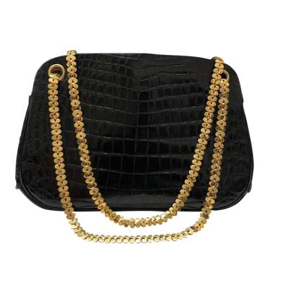 Small black crocodile Bag-1