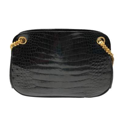 Small black crocodile Bag-3