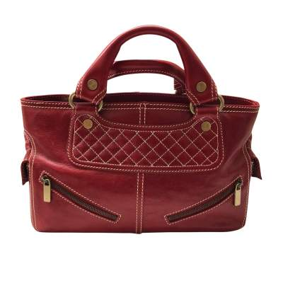 Red leather boogie Bag-1