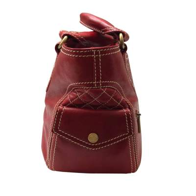 Red leather boogie Bag-5