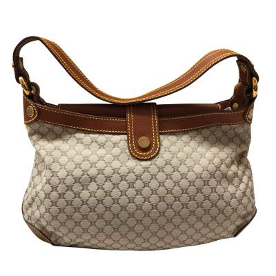 Gold leather monogram canvas Bag -3