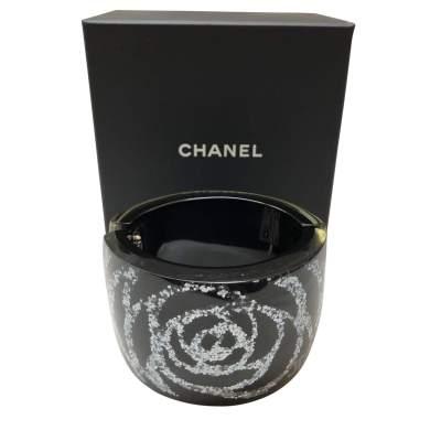 Silver camellia Cuff-0