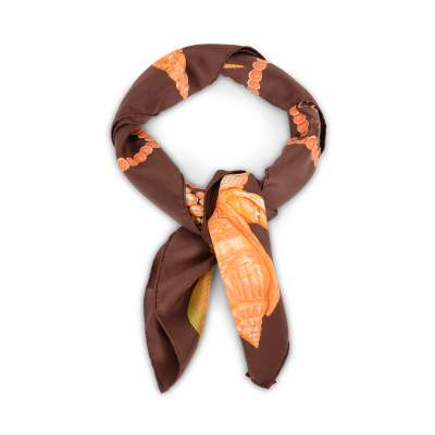 Silk twill Scarf Rocaille -0