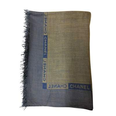 Blue and khaki Scarf-0