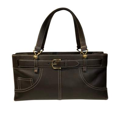 Chocolate leather Bag-0