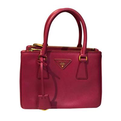 Pink small leather Bag-0