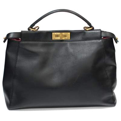Peekaboo black leather Bag-0
