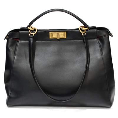 Peekaboo black leather Bag-3