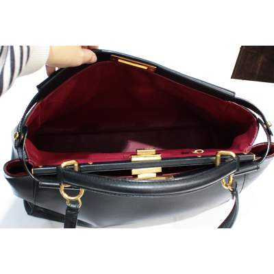 Peekaboo black leather Bag-9