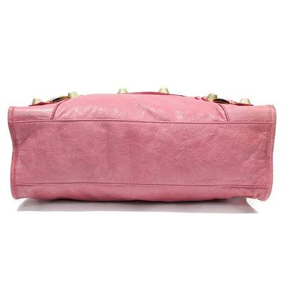 Pink leather city Bag-5
