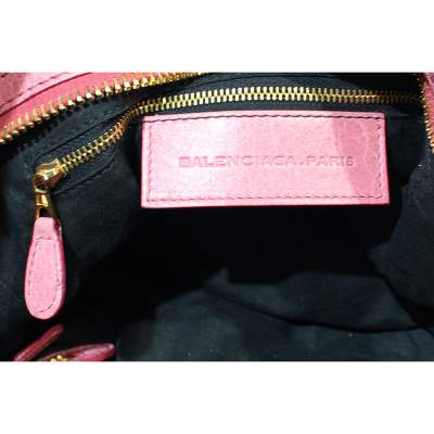 Pink leather city Bag-11