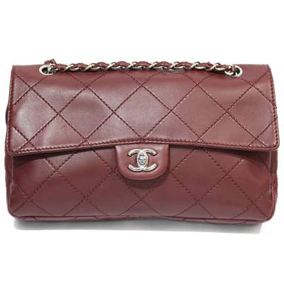 Jumbo leather bordeaux Bag-0