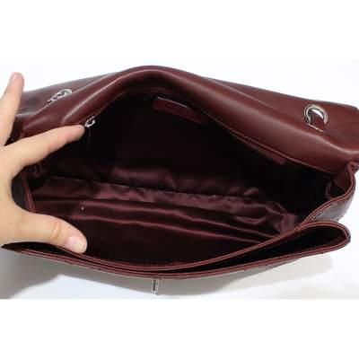 Jumbo leather bordeaux Bag-7