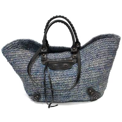 Osier blue leather Bag-0