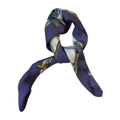 Purple and blue Scarf-3