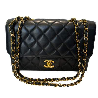 Vintage Black quilted leather Bag-1