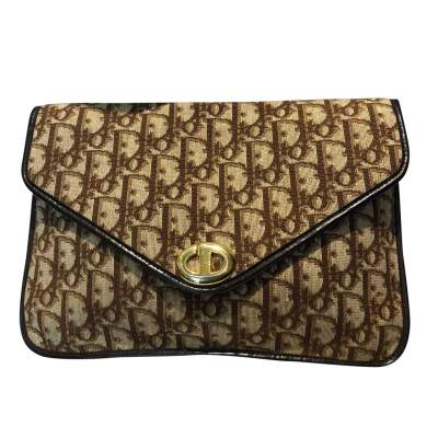 Brown monogram canvas Clutch-0