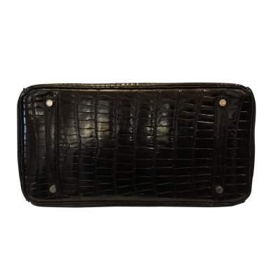 Vintage Black crocodile porosus Birkin-7