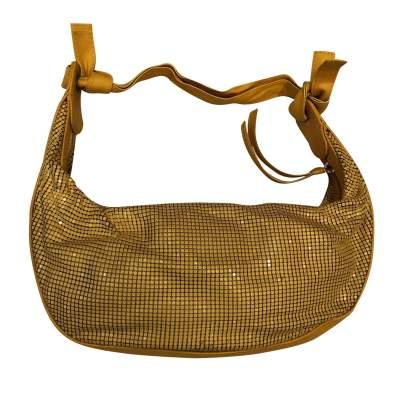 Yellow leather and metal Bag-3