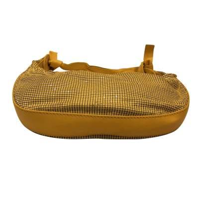 Yellow leather and metal Bag-5