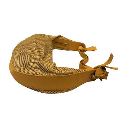 Yellow leather and metal Bag-7