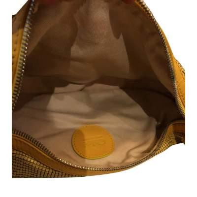Yellow leather and metal Bag-9