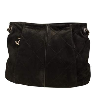 Black suede Bag-0