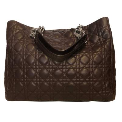 Chocolate quilted leather Bag-1