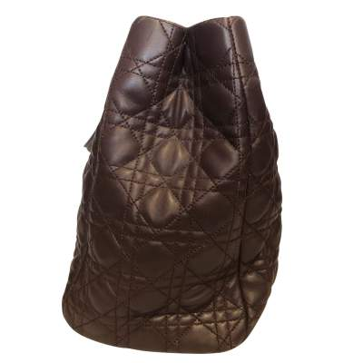 Chocolate quilted leather Bag-5