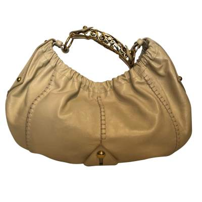 Beige leather Bag-0