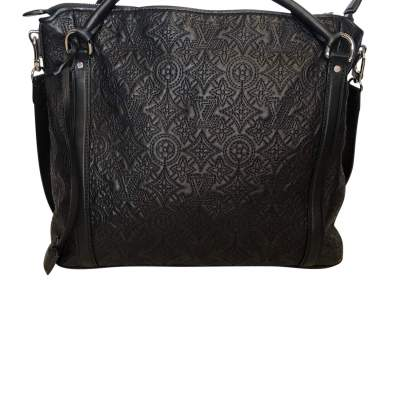 Monogram embroidered leather Bag-0