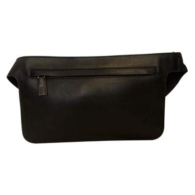 Black leather belt Clutch-0