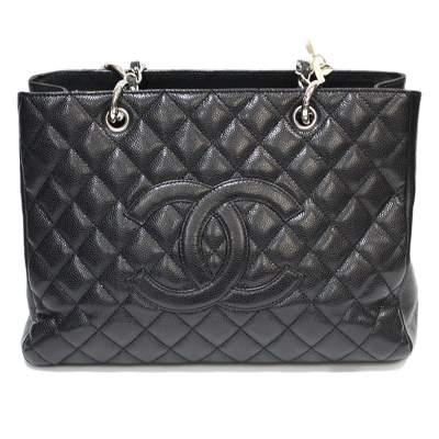 Black caviar leather Bag-0