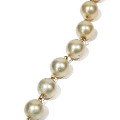 Vintage pearl ball Necklace -5