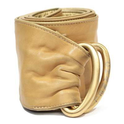 Beige leather Belt -0