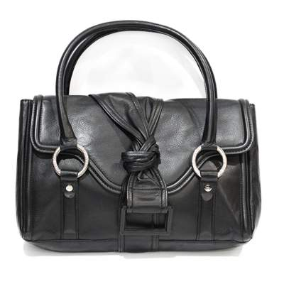 Black leather shoulder Bag-1