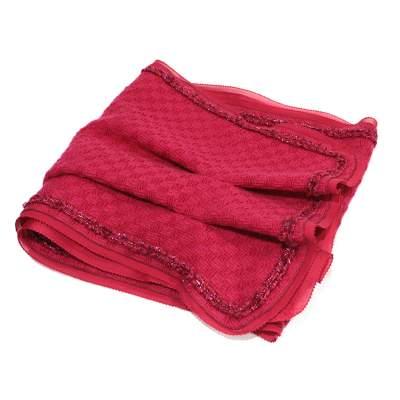 Tweed fushia Scarf-0