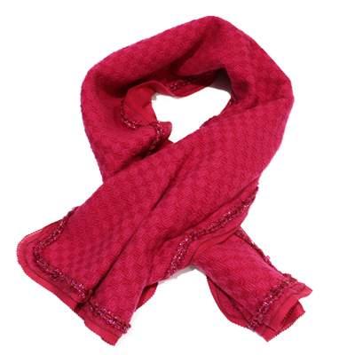 Tweed fushia Scarf-3