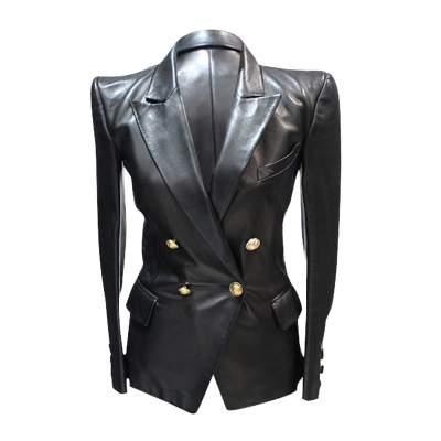 Black leather Jacket-0