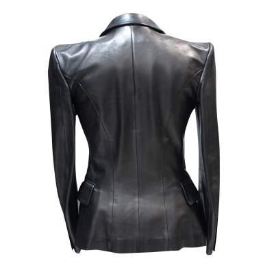 Black leather Jacket-3