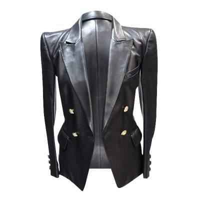 Black leather Jacket-5