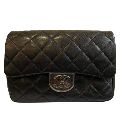 New small black leather Bag-1