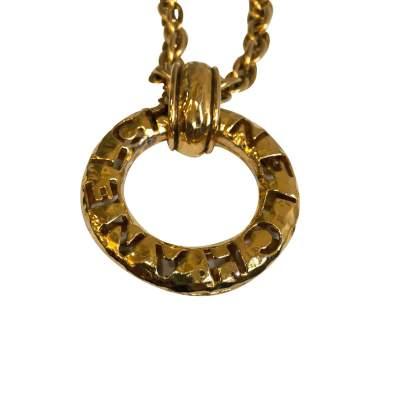 Vintage gold metal Necklace-5