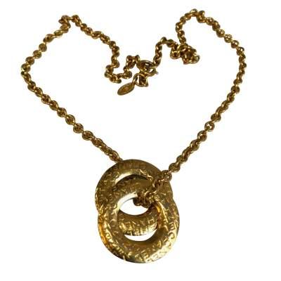 Vintage Gold metal Necklace-1