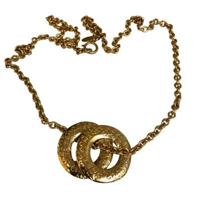 Vintage Gold metal Necklace-3